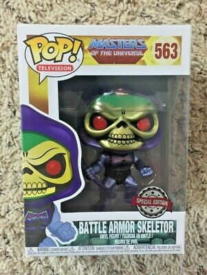 Funko Pop Masters Of The Universe Battle Armor Skeletor Metallic #563 Special