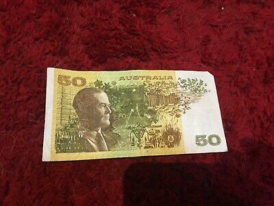 Australia $50 Fifty Dollar Fraser / Cole Note