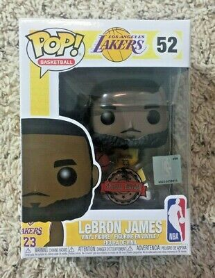 Funko POP! Los Angeles Lakers LeBron James Yellow Uniform #52 Special Edition