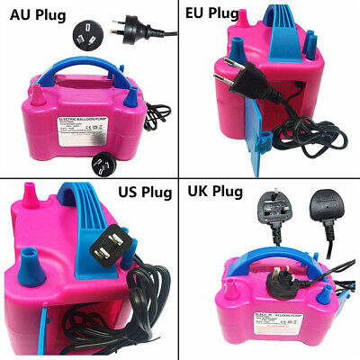 Portable 600W Dual Nozzle Electric Balloon Pump Inflator Air Blower Party~
