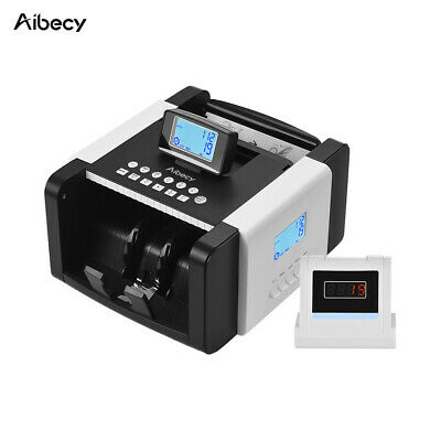 LED Money Bill Currency Counter Counting Machine Counterfeit Detector UV MG R9L2