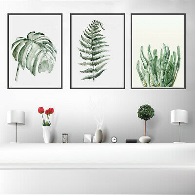 Tropical Plants Leaves Canvas Art Poster Wall Picture Living Room Home Decor