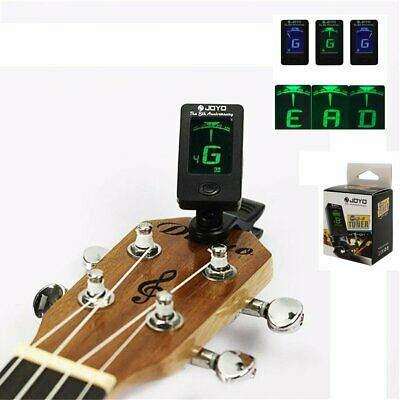 Chromatic LCD Clip On Tuner Electric Acoustic Guitar Bass Violin Banjo Ukulele