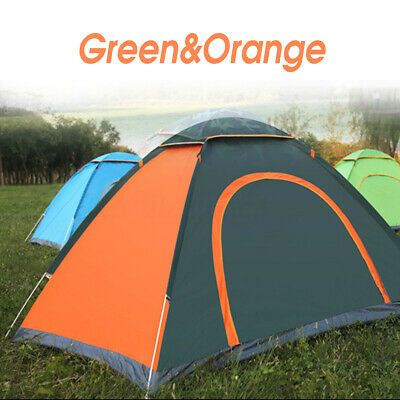2 3 4 Man Person Child Outdoor Camping Waterproof Automatic Pop Up Tent Orange