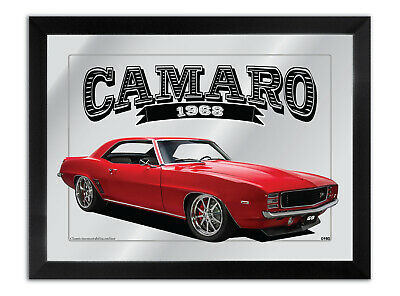 Bar Mirror Artwork Suit-Red-1969-Chevrolet-Camaro-Z28 Other Colours Available