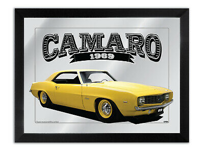 Bar Mirror Artwork Suit-1969-Yellow Chev-Camaro-Zl1-Other Colours Available