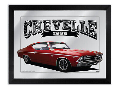 Bar Mirror Artwork Suit Blue Chevrolet Chevelle Ss 1969 Other Colours Available