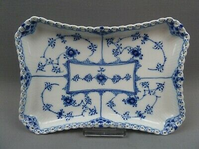 Royal Copenhagen 1195 Musselmalet Vollspitze Platte Tablett full lace