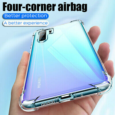 Clear Shockproof Case For Huawei P30 Pro Mate 20 P20 Lite Y9 2019 Rubber Cover