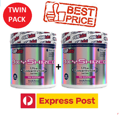 OxyShred By EHPLabs - Thermogenic Weight Loss Twin Pack (120 Servings)