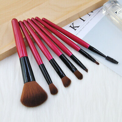 7Pcs Makeup Brush Set Powder Foundation Eyeshadow Blush Cosmetic Brushes Tools