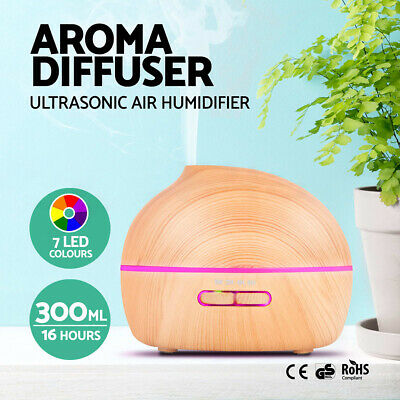 300ml Ultrasonic Air Humidifier Essential Oil Aroma Mist Aroma Diffuser Purifier
