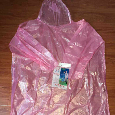 10X Waterproof Adult Emergency Disposable Rain Coat Poncho's Hiking JI1