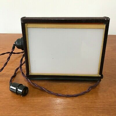 TESTED WORKING Vintage Johnsons Safelight Photography Darkroom ILFORD or upcycle