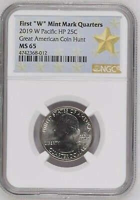 2019 W War in the Pacific ATB Quarter NGC MS65 Great American Coin Hunt 25c Guam