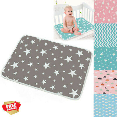 AU Reusable Baby Infant Waterproof Mat Bed Nappy Cover Change Urine Pad 50*70cm