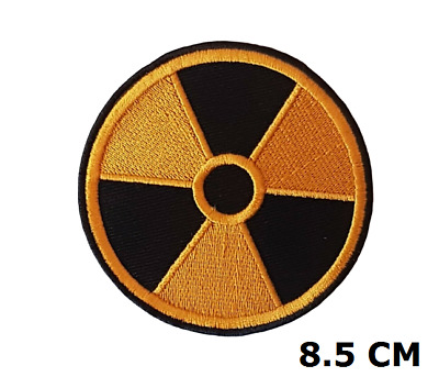 Nuclear Radiation Symbol Embroidered Patch Badge Logo 8.5 cm Diameter