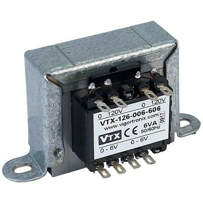 Vigortronix VTX-126-006-606 Chassis Mains Transformer 6VA 0-6V