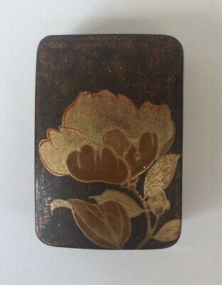Antique Japanese Lacquered And Gilded Box
