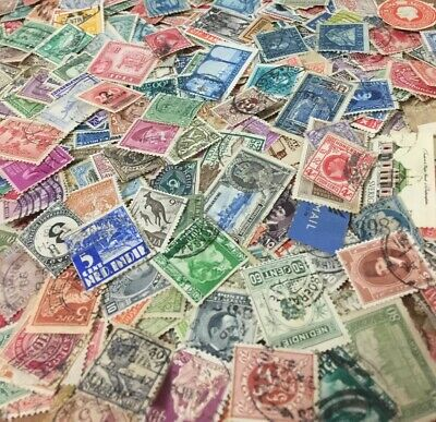 BULK Lot of 300+ Mixed World Stamps - Good Mix w FREE POSTAGE in Australia