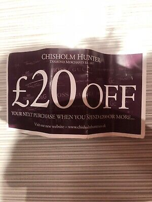 Chisholm hunter £20 off when you spend £200 gift voucher- no date used in store