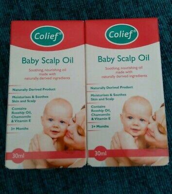 2x Colief Baby Scalp Skin Oil Soothing Nourishing Natural 30ml