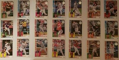2019 Topps Series 1 1984 35th Anniversary National League Team Lot, 21 Cards