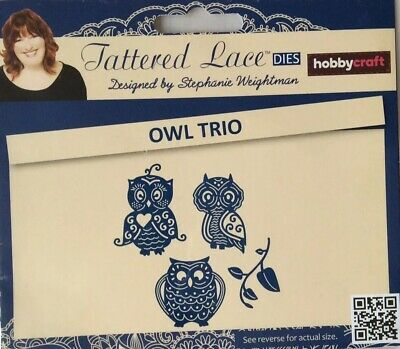 TLD0557 Owl Craft Cutting Die Tattered Lace LOVE IS ALL AROUND TAPESTRY