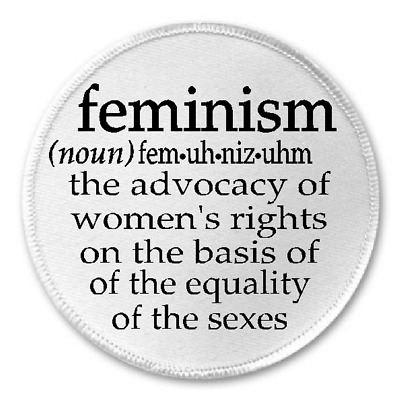 """Feminism Definition - 3"""" Sew/Iron On Patch Feminist Womens Rights Equality Gift"""