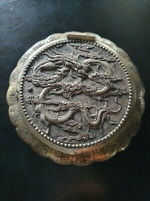 Chinese Export Silver Powder Compact Box - Chine Poudrier En Argent