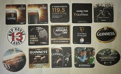 15 Guinness Beer Mats Coasters