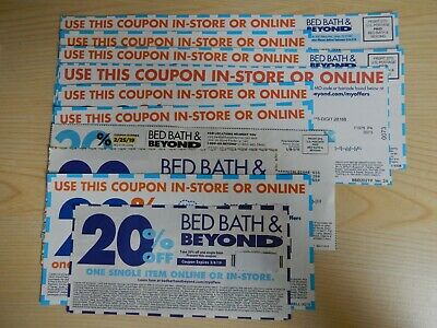Lot of 10 - Bed Bath And Beyond 20% Off Single Item Coupons