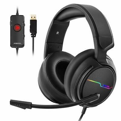 Headset Jeecoo USB Pro Gaming for PC - Headphones 7.1 Noise Cancelling New