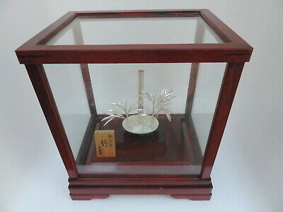 Finest Hand Crafted Signed Japanese Sterling Silver Bamboo Bonsai Tree Mitsunori