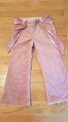 Girls pink trousers with sequin belt and adjustable waist age 4 from next