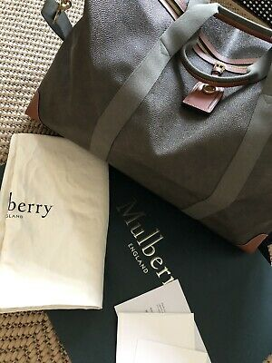 Mulberry Large Travel Bag - Large ClipperMole & Cognac Scotchgrain - unisex