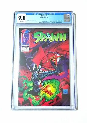SPAWN #1 CGC 9.8 - 1st app. Al Simmons aka Spawn Todd McFarlane movie & 300 soon