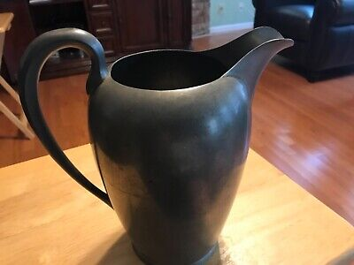 """Vintage BEAUTIFUL ART DECO Pewter Pitcher By Wilcox 9.5"""" (P5)"""
