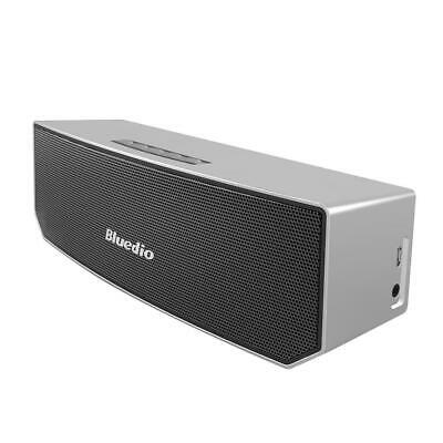 Bluedio BS-5 Bluetooth Wireless 3D Stereo HiFi Speaker with Mic (Silver) #VIC