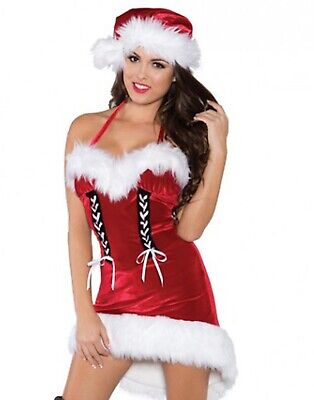 Santa/'s Inspiration Womens Costume Red Velvet Miss Dress Christmas