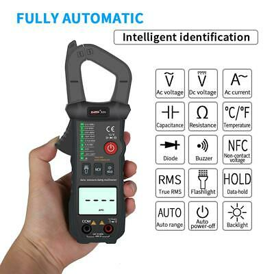 Auto Range True RMS Digital Clamp Meter AC/DC Voltage Current Tester Multimeter