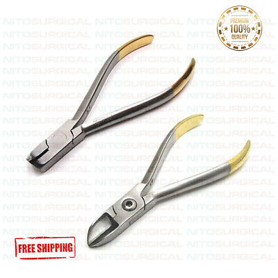 Set Of 2 Dental Distal End Cutter TC, Hard Wire Cutter TC Orthodontic Pliers
