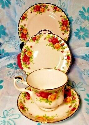 Royal Albert Old Country Rose 1962 Salad & Dessert Plate Saucer & Cup