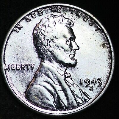 UNCIRCULATED 1943-D Steel Lincoln Wheat Cent Penny FREE SHIPPING