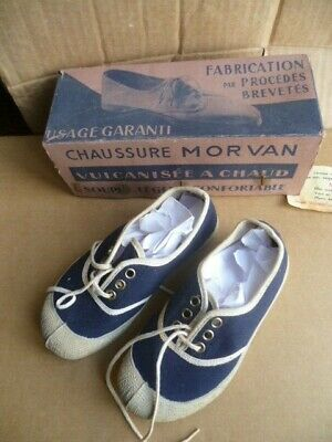 Old Tennis Child New Canvas and Rubber Morvan Size 26 Years 60