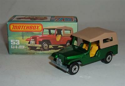 Matchbox Superfast No. 53, CJ-6 Jeep, - Superb.