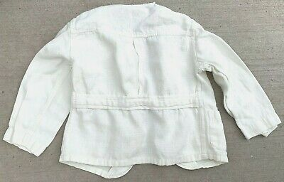 VTG 1930s White Belt Back Jacket Blazer Dinner Little Boys Mini Mens Big Doll
