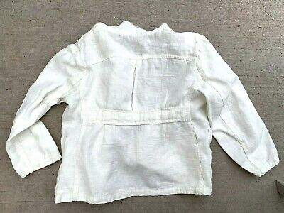 "VTG 1930s White Beltback Jacket Blazer Dinner Little Boys Mini Mens 28"" Chest"