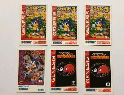 Sonic The Hedgehog Sega 1995 Game Gear Cards Card Genesis Tails Knuckles Cheats 7 90 Picclick Uk