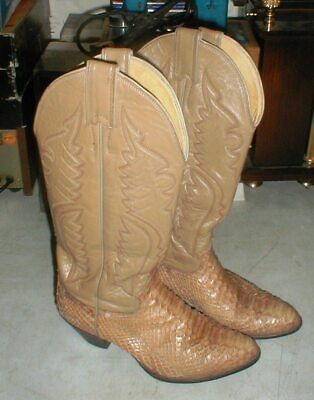 9145d66c325 WOMEN'S JUSTIN SNAKE Skin Cowboy Boots Size 5.5 N Style N5490 ...
